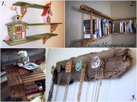 Libreria creativo Scala : riciclo creativo del legno, home decor, arredamento casa col legno ...