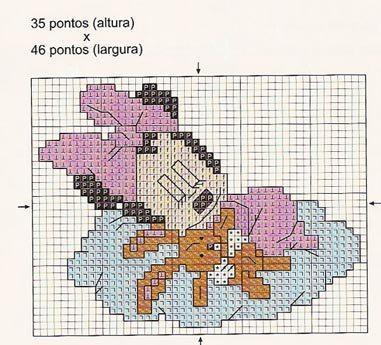 Bavaglino minnie punto croce paperblog for Schemi punto croce bavaglini bimba