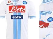 """Napoli, terza maglia """"white stripes"""" Macron"""