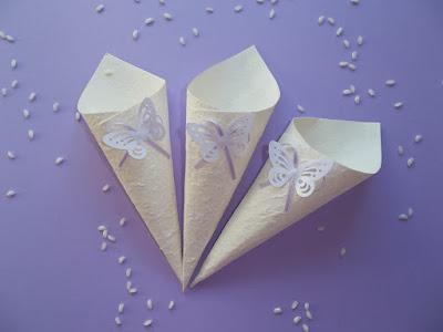 Coni porta riso o porta confetti paperblog - Cesto porta coni di riso ...