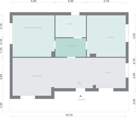 80 mq 2bagni e 1studio paperblog - Come dividere casa 100 mq ...