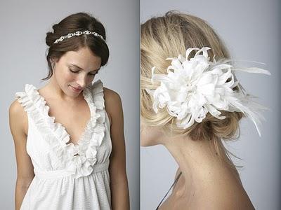 Accessori sposa per capelli sciolti