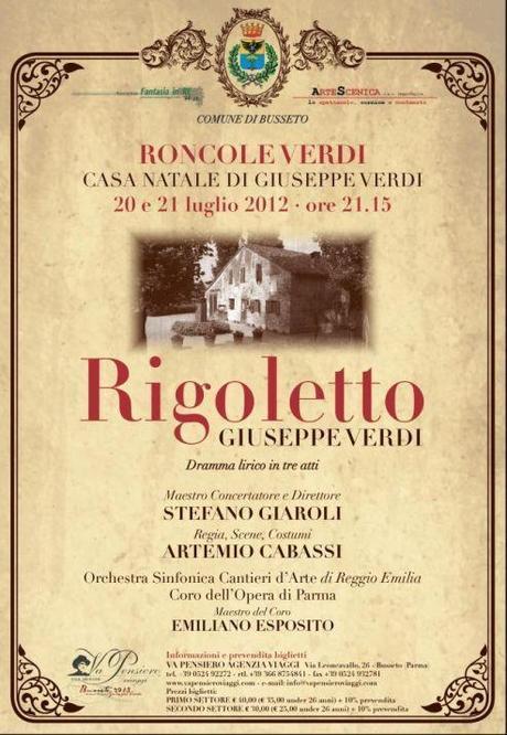 una immagine di Locandina Rigoletto su Giuseppe Verdi e Rigoletto: Tornando a Casa