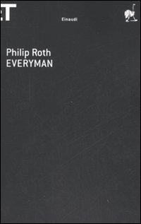 una immagine di Copertina di Everyman Einaudi 2008 su Philip Roth: Ognuno Sta Solo sul Cuor della Terra