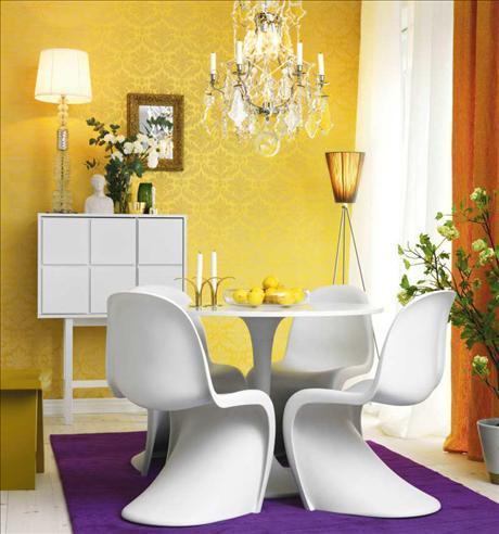 _non colore bianco, quindi una riproposizione nella consolle a parete ...