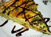 Torta salata all'aceto balsamico zucchine, erba cipollina, prosciutto cotto mozzarella