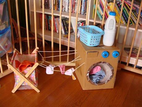 washing machine diy toys cardboard pinterest. Black Bedroom Furniture Sets. Home Design Ideas