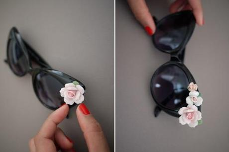 DIY: Do It Yourself // Occhiali Floreali