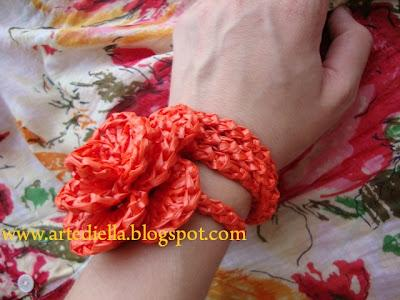 Video Tutorial Bracciale Alluncinetto In Rafia Con Spighetta Rumena
