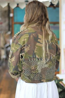 Diy fashion giacca militare e borchie
