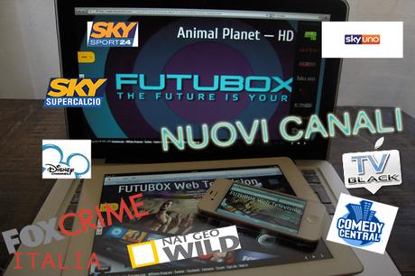 Futubox si rinnova ed aggiunge Sky Sport 24, Sky SuperCalcio, Disney Channel Italia e molti altri