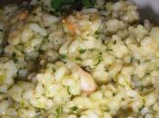Risotto pesto pistacchio gamberi