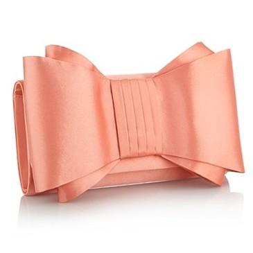 Dark peach large bow clutch bag - Matching shoes & bags - Shoes & boots - Women -