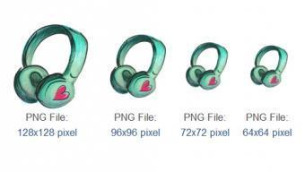 Free Headphone icon per il web design