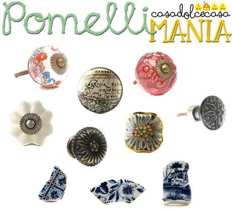 Bella lidea di ricavare dei pomelli da pezzi di ceramica decorata ...