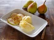 Gelato allo zenzero letto pere alla cannella Ginger cream pears with cinnamon