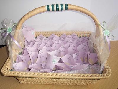 Porta riso porta confetti per matrimoni colore lilla e - Porta riso matrimonio ...