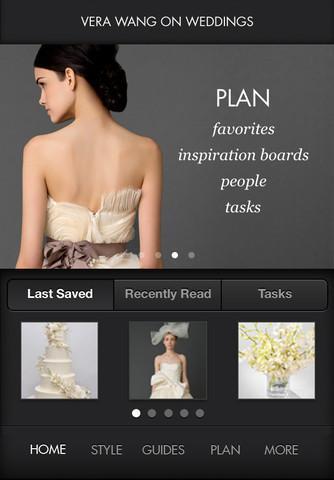 App di Vera Wang per organizzare il matrimonio
