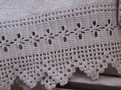 Asciugamani con bordure paperblog for Merletti all uncinetto