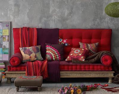 Trasformare la casa con i tessuti paperblog - Maison du monde divano roma ...