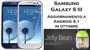 Samsung Galaxy S III - Aggiornamento ad Android 4.1 - Logo