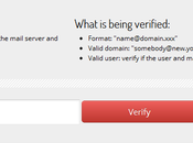 Controllare correttezza indirizzo email verify-email