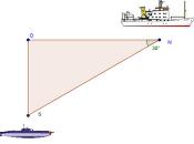 Problema teorema Pitagora: individuare profondità sommergibile base tempo rilevazione dell'eco