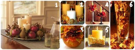 Idee con le candele: coloriamo la casa d'autunno