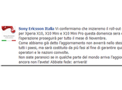 Sony Ericsson: domenica arriva Android famiglia Xperia