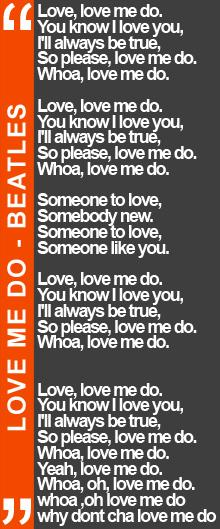 LOVE ME DO BEATLES parole