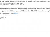 Apple estende anno ancora spazio iCloud agli utenti MobileMe
