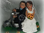 Cake topper personalizzato sposi vespa