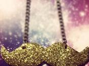 Tutorial: glitter moustache necklace// jewelry from cardboard