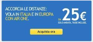 Air One: vola in Italia e in Europa da 25 €