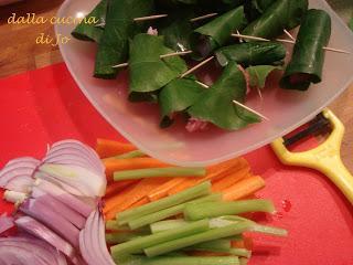 Bocconcini di coniglio in foglie di limone paperblog - Foglie limone nere ...