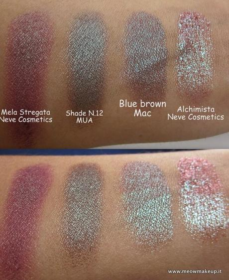 dupes mac club eyeshadow e blue brown pigment paperblog