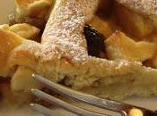 Crostata ripiena crema pasticcera, mele