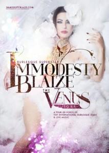 Immodesty Blaize abbandona il nuovo show