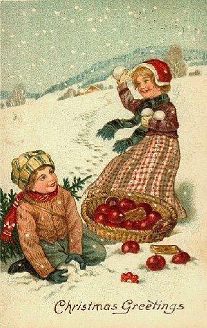 Antiche Immagini Di Natale.Antiche Cartoline Di Natale 2012 Paperblog