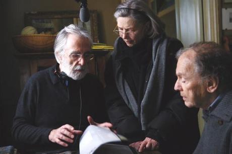 una immagine di Michael Haneke Emmanuelle Riva e Jean Louis Trintignant 620x413 su Amour: la Cura, la Dignità, la Scelta