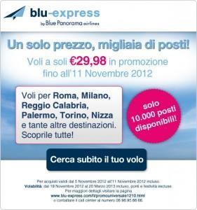 Blu-express: Vola a 29,98€, solo 10000 posti disponibili!