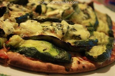 Pizza con Zucchine Grigliate e Lou Blau