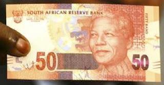 Nelson Mandela sui nuovi rand