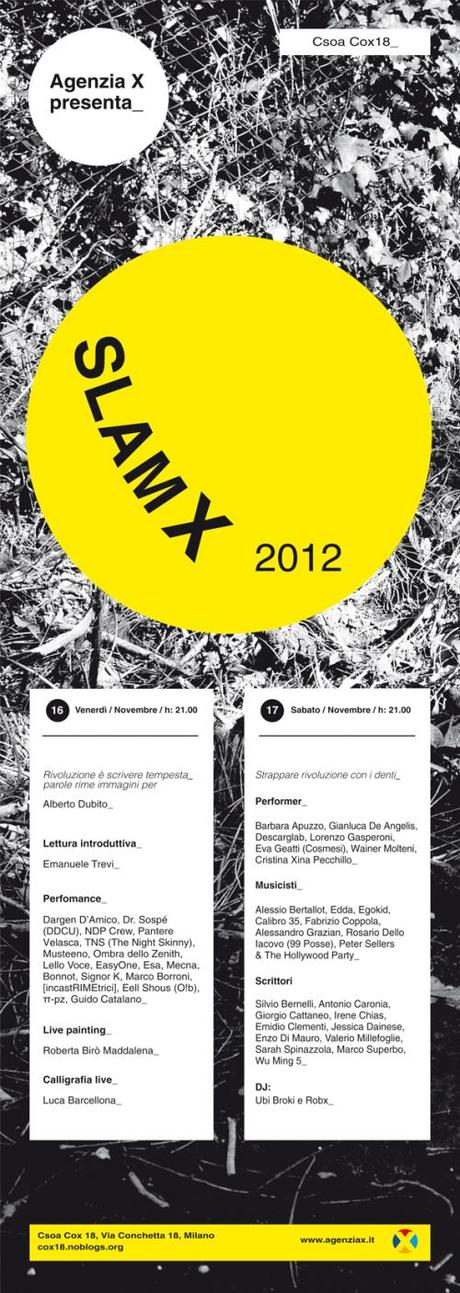 Festival Slam X 2012 – Reading & Performance @Conchetta_Milano