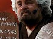 Beppe Grillo tavole della legge.