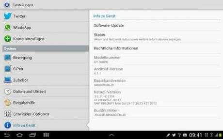 Samsung Galaxy Note 10.1: Android 4.1 disponibile | DOWNLOAD