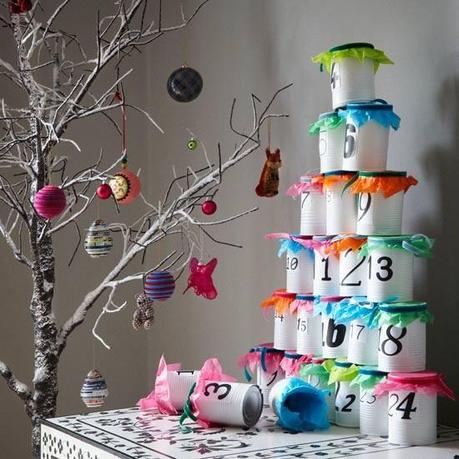 natale idee calendario avvento : Idee per Natale: Il Calendario dell?Avvento con i barattoli di latta ...