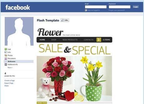 raccolta di facebook shop templates paperblog. Black Bedroom Furniture Sets. Home Design Ideas