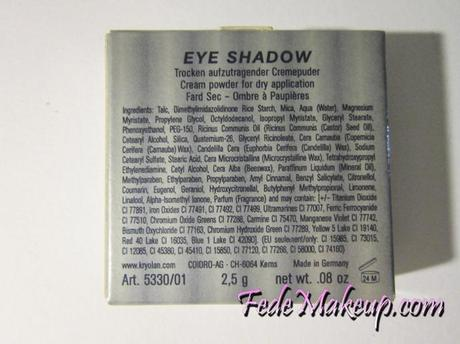 Review Kryolan Eyeshadow colorazione TO