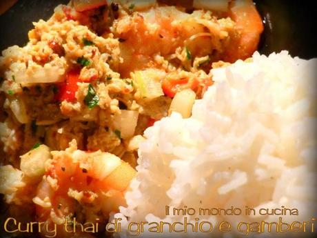 CURRY THAI DI GRANCHIO E GAMBERI